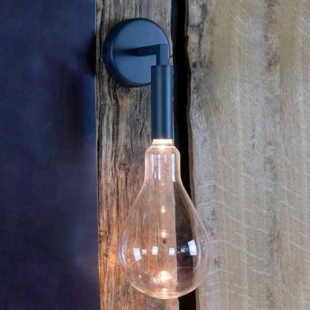 Venkovní nástěnná lampa ze železa a hliníku s LED v ceně Made in Italy - Luccico