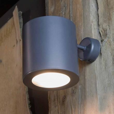 Venkovní nástěnná lampa ze železa a hliníku s LED v ceně Made in Italy - Rango