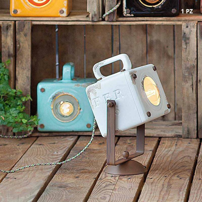 Nástěnné svítidlo průmyslové vintage stylu keramiky a ferro Julia