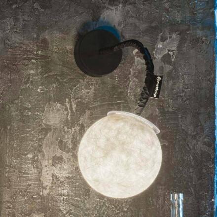 Současné nástěnné svítidlo In-es.artdesign Aplikace Micro Luna v nebulitu