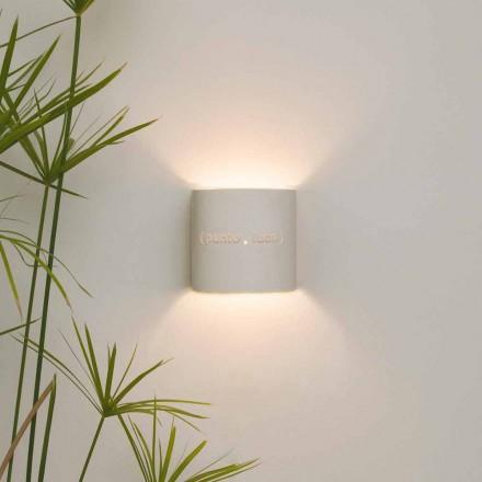 Moderní dvoutónová nebulitní nástěnná svítidla In-es.artdesign Punto Luce design
