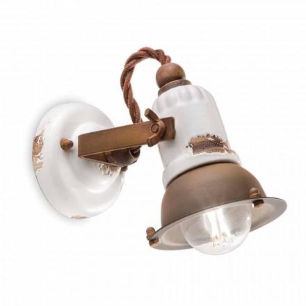 Nástěnný nastavitelný keramiky a kovu reflektor Kendra Ferroluce