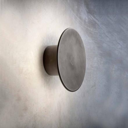 Nástěnná lampa pro moderní exteriér v mědi Vyrobeno v Itálii - Pasdedeux Aldo Bernardi