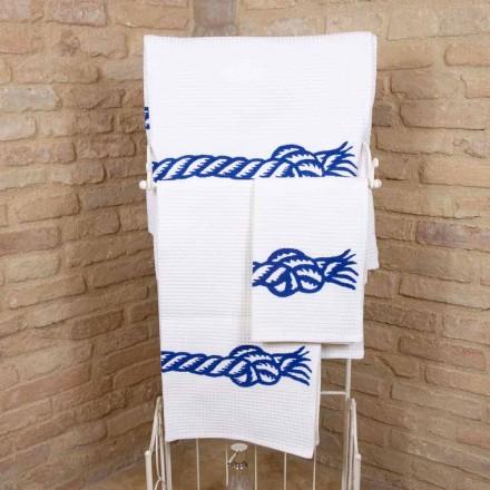 Ručně vyráběný ručník na tisk v jedinečné bavlně vyrobené v Itálii