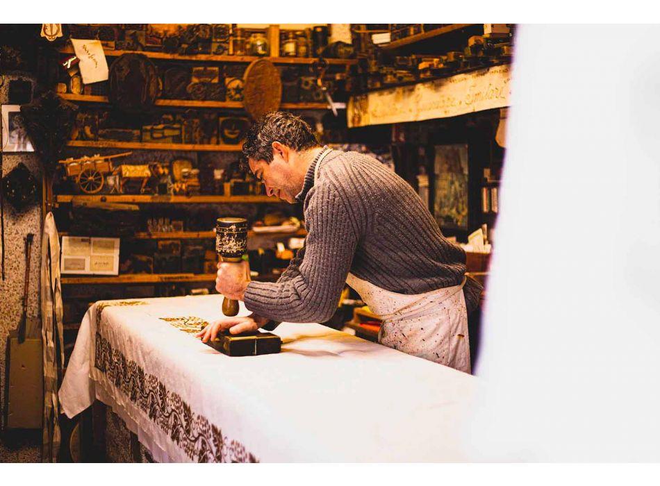 Ručně vyráběné umělecké ručníky z jednoho kusu italské bavlny - značky