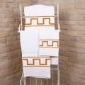 Art Ručník ručně vytištěn v bavlně Unikátní italský kus - Viadurini od Marchi