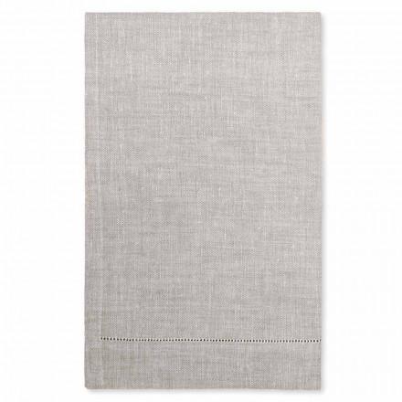 Ručník do koupelny bílý nebo přírodní prádlo vyrobený v Itálii - Chiana