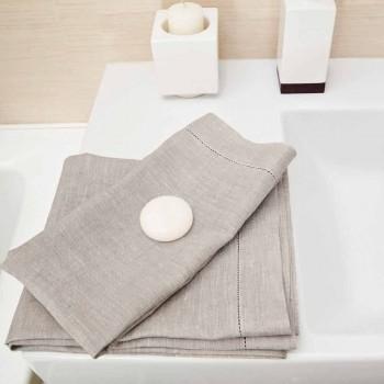 Bílá nebo přírodní plátěná osuška vyrobená v Itálii - Chiana