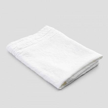 Italská ručně vyrobená luxusní bílá těžká plátěná osuška - Jojoba