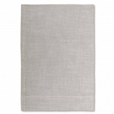 Krémově bílá nebo přírodní čistá plátěná osuška vyrobená v Itálii, 2 kusy - Blessy