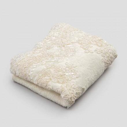 2 bavlněné froté ručníky na ručníky a krajka se směsí okraje - Ginova