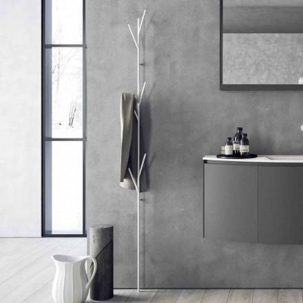 Podlahový věšák v moderním designu v bílé nebo chromové barvě - Kottac