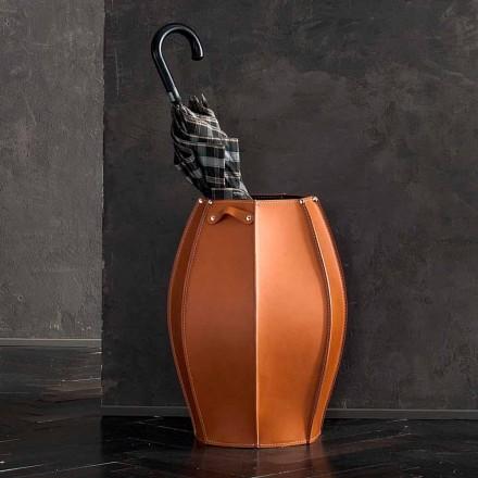 Audrey deštník stánku s moderním designem v kůži, vyrobený v Itálii