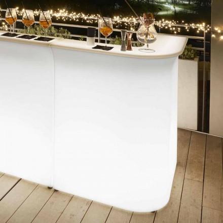 Venkovní rohové stolní stůl Slide Break, vyrobený v Itálii