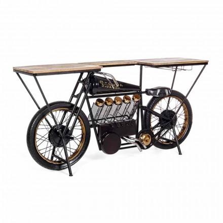 Konzolová tyč s moderním designem v motocyklu Mango Wood and Steel - Shallot