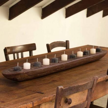 Voskový člun s hnědými nebo slonovinovými světly, včetně Made in Italy - Ludvig