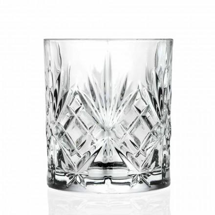 Dvojité staromódní sklo, vintage styl Eco Crystal 12 kusů - Cantabile