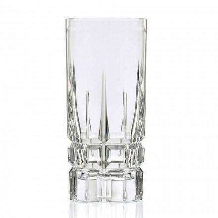 Skleněná sklenice na skleničku Highball 12 kusů v křišťálu Eco - Fiucco