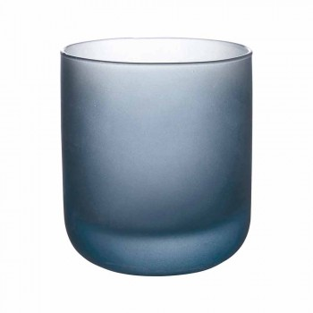 Barevné sklenice na vodu z matného skla s ledovým efektem, 12 kusů - Norvegio