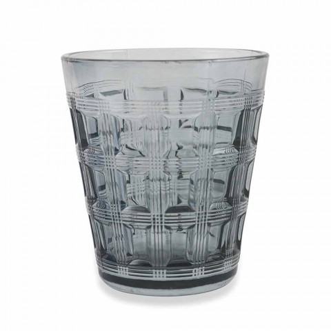 6 Barevná služba Barevná sklenice na vodu - proplétání