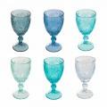 12 kusů barevných sklenic na víno nebo vodní sklo - Mazara