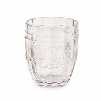Barevné a elegantní brýle ve skle Služba 6 kusů pro vodu - šroub