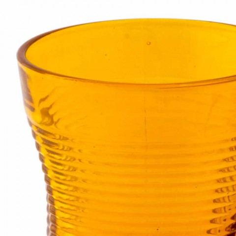 Barevné skleněné koktejlové sklenice 6 kusů zmačkaného designu - Sarabi