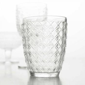 6 kusů obsluhujících sklenic v průhledném skle pro vodu - optické