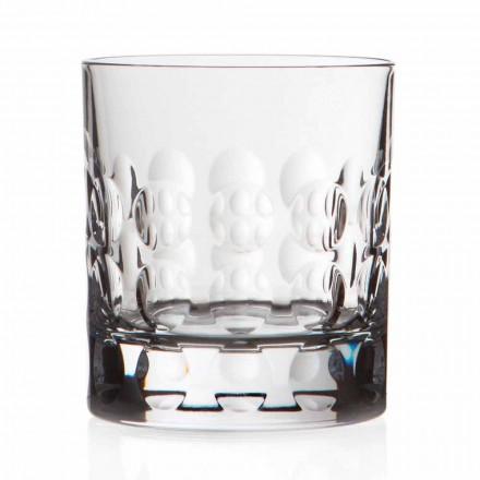 Dvojité staromódní křišťálové sklenice na whisky 12 kusů - Titanioball