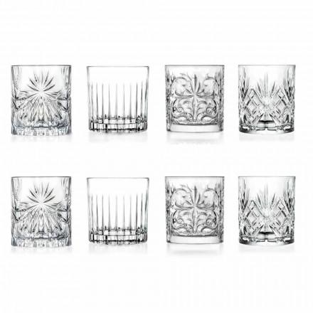 Luxusní dvojité staromódní sklenice 8 různých kousků - Malgioglio