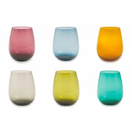 Skleněné sklenice pro vodu Moderní servis 12 kusů - Aperi