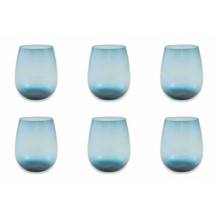 Moderní a barevné skleněné sklenice na vodu Služba 6 kusů - Aperi