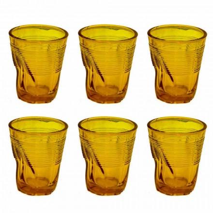 Moderní barevné skleněné vodní sklenice 12 kusů designu - Sarabi