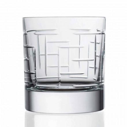 Dvojité sklenice na starou křišťálovou skotskou whisky 12 kusů - arytmie