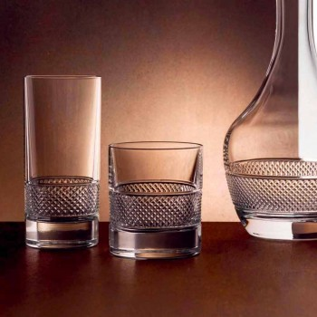 Brýle s nízkou sklenicí v ekologickém křišťálu s luxusní dekorací 12 kusů - Milito