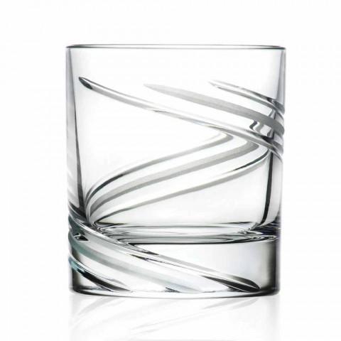 Ručně zdobené ekologické křišťálové brýle s nízkou sklenicí 12 kusů - cyklon
