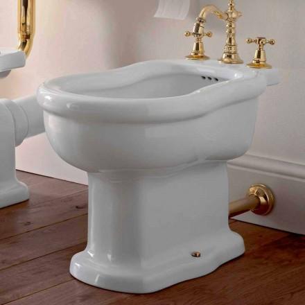 Klasický design White Bidet v bílé keramice Vyrobeno v Itálii - Paulina