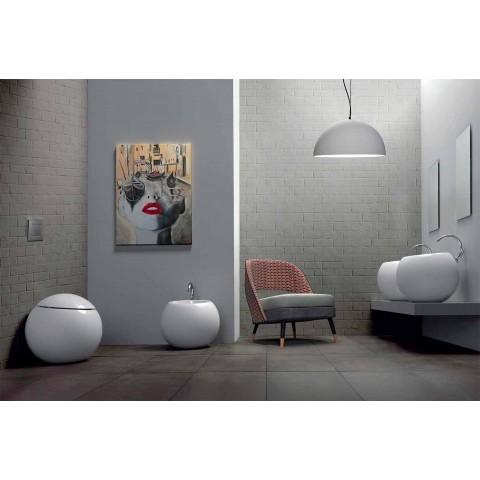 Bidet ve tvaru koule v barevné keramice Fanna