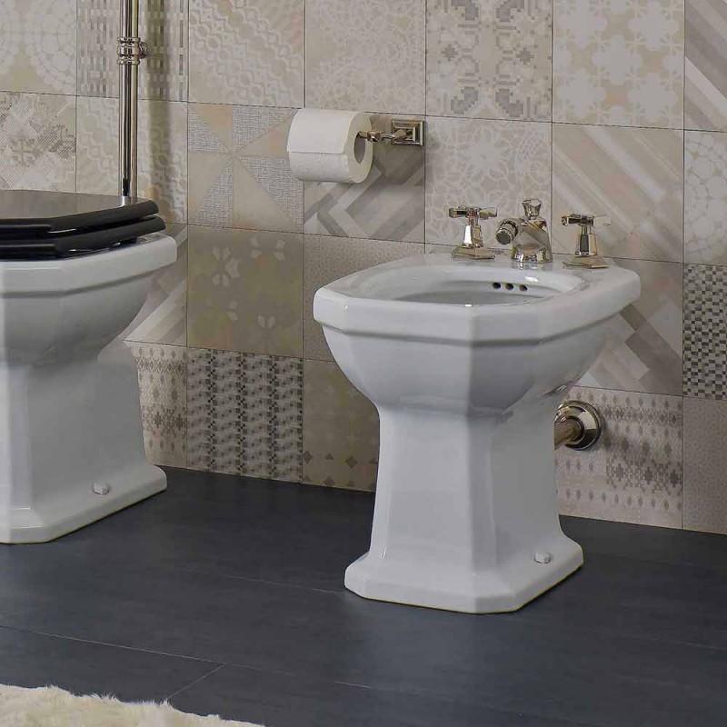 Bílý keramický vintage styl vyrobený v Itálii Bidet - Nausica
