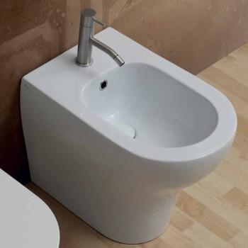 Bidet moderní design v bílé keramické 54x35 cm Star, vyrobený v Itálii