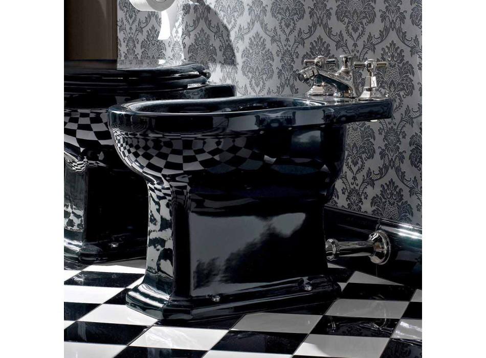 Bidet v bílé nebo černé klasické keramice ze země Vyrobeno v Itálii - Marwa