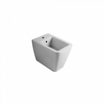 Bidet z bílé keramiky moderní design Sun 55x35 cm Made in Italy