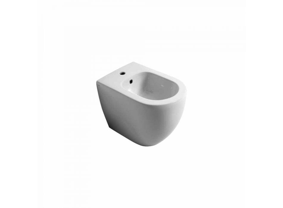 Bidet moderní keramické Shine Square vrtaných 54x35cm Made in Italy