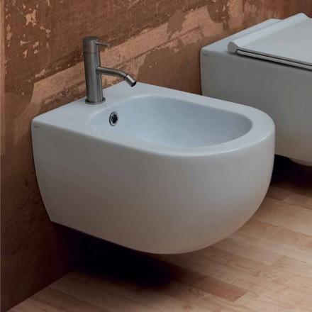 Hung bidet v moderním designu keramických hvězda 55x35cm Made in Italy
