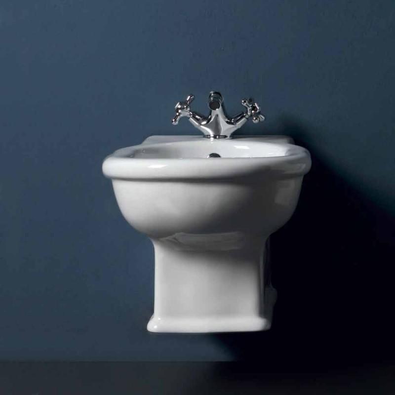 Hung bidet Modern Style 54x36 cm v bílé keramické, made in Italy