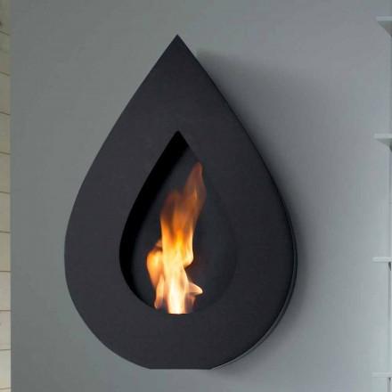 Biocamino Modern Wall bioethanol Josepha tvaru plamene