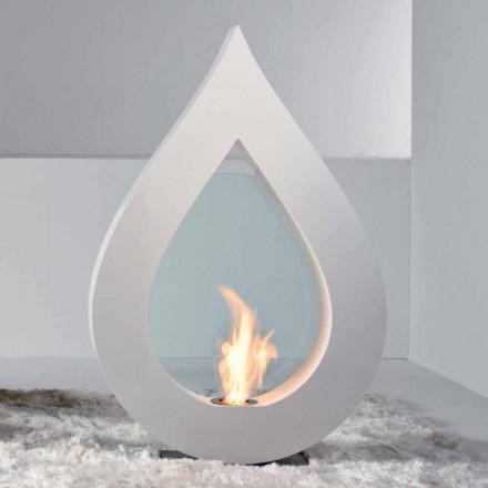 Biocamino z bioetanolu země, plamen ve tvaru moderní design Todd