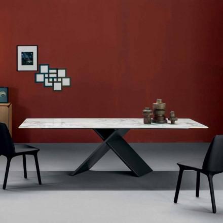 Plošný návrhový stůl Bonaldo Axe v keramickém kovovém podkladu vyrobeném v Itálii