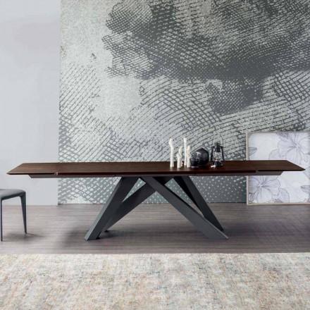 Bonaldo Velký stůl rozkládací stůl z italského designového dřeva