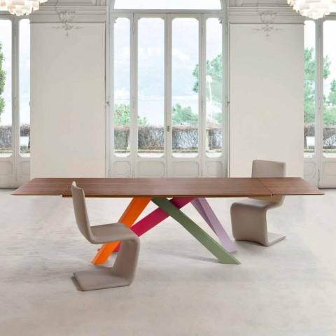 Bonaldo Velký stůl rozkládací dřevěný stůl vyrobený v Itálii